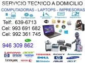 946309862 SERVICIO TÉCNICO DE LAPTOP PCs