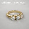 Anillo de Diamantes con Tres Piedras sob