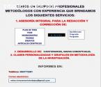 ASESORÍA TESIS-TRABAJOS DE INVESTIGACIÓN
