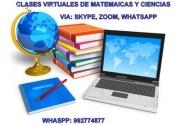 CLASES VIRTUALES DE MATEMÁTICAS Y CIENCI
