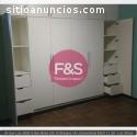 Closet en melamina. F&S Amoblados