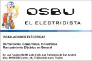 Electricista a domicilio OSBU