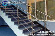escaleras,pasamanos en acero inox