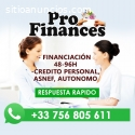 FINANCIACION: ASNEF/AUTONOMO/EMPRESAS