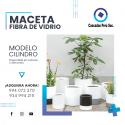 MACETA CILINDRO - FIBRA DE VIDRIO