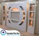muebles de tv con luces LED, melamina