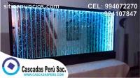 Panel de burbujas , cortina de agua