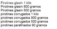 Pirotines Corrugados 900 gr - JANPAX