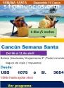 Precio de paquete turistico a Cancún