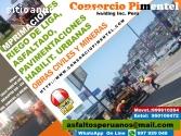 Precio x m2 asfalto n caliente Perú 2018