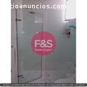 Puerta ducha en vidrio templado, F&S Amo