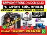 Servicio tecnico a Pcs internet laptops