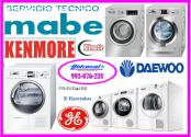 Servicio tecnico de secadoras mabe 99307