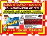 SERVICIO TECNICO REDES WIFI PC LAPTOP