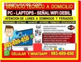 SOPORTE TECNICO A PCS REPETIDORES LAPTOP