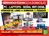 Soporte tecnico Pcs,internet,laptops