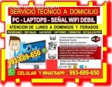 SOPORTE TECNICO WIFI PC LAPTOP CABLEADOS