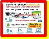 TECNICO CABLEADOS INTERNET REPETIDORES