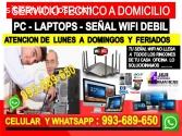 Tecnico de PC internet laptops cableados