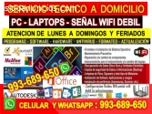 Tecnico de Pc laptops Repetidores Wifi