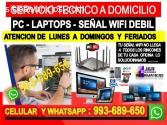 TECNICO PC LAPTOP REDES WIFI REPETIDORES