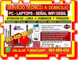 TECNICO WIFI PC LAPTOPS CABLEADOS DE RED