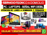 Tecnico Wifi pcs laptops cableados
