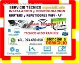 TECNICO WIFI REPETIDORES REPARACION PC