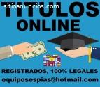 titulos universitarios y tecnicos online