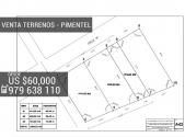 Venta de lotes en Pimentel, 300 mts de l