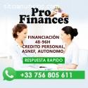 FINANCIACION: ASNEF/AUTONOMO/EMPRESAS