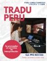 Traducción simultánea en Perú