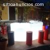 Balcão bar curva com luz modelo Ibiza