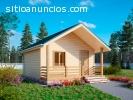 Casas de madeira, casas pré-fabricadas.
