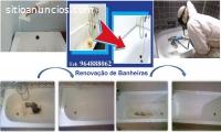 Recuperação de banheiras.