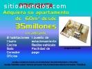 APARTAMENTOS DE 60M² DESDE 35MILLOnES