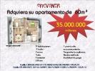 APARTAMENTOS DE  60M² POR 35MILLONES