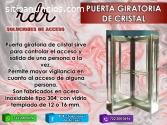 PUERTA GIRATORIA DE CRISTAL - RDR SOLUCI