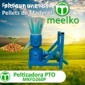 Maquina Meelko para pellets con madera 2